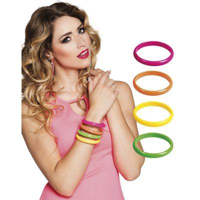 Foto van Neon armband Madonna 4 stuks