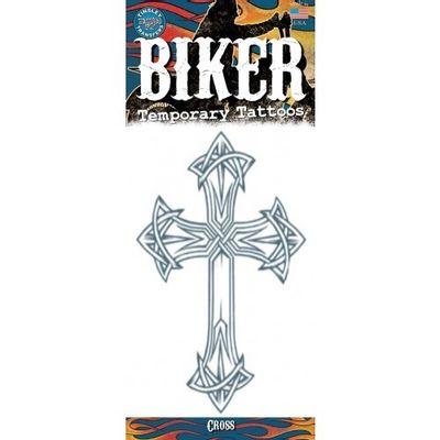 Foto van Biker neptattoo Kruis