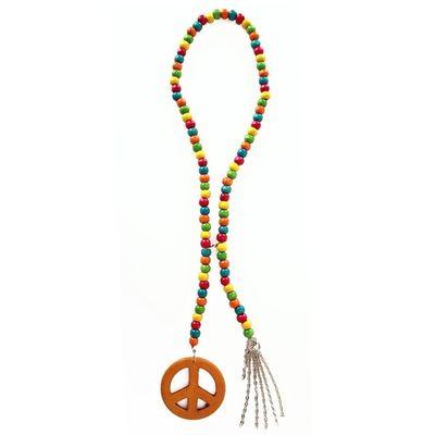 Foto van Peace ketting met houten kralen