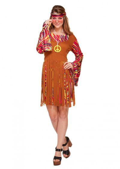 Hippie jurk met franjes
