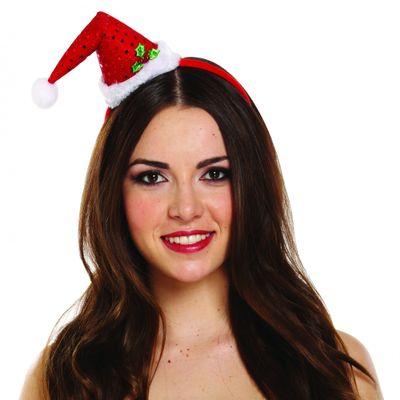 Diadeem kerstmutsje