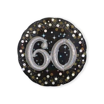 Foto van Folieballon 60 Sparkling 3D