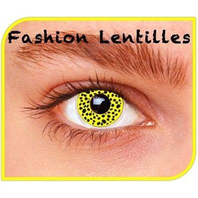 Kleurlenzen Yellow Cheetah maandlenzen