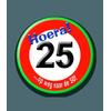 Afbeelding van Button 25 jaar verkeersbord