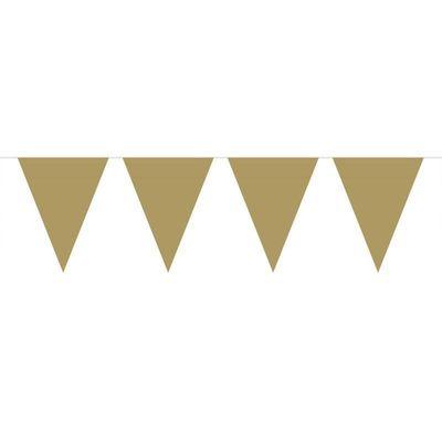 Mini Vlaggenlijn Goud /3mtr