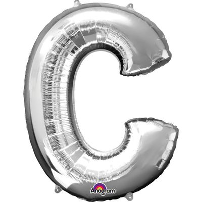 Foto van Folieballon letter C zilver 40cm