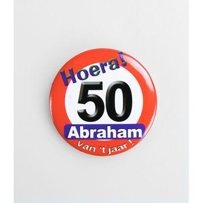 Foto van Button Verkeersbord 50 jaar Abraham van hett jaar!