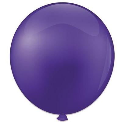 Topballon kristal paars (91cm) 6st