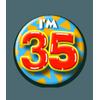 Afbeelding van Button 35 jaar