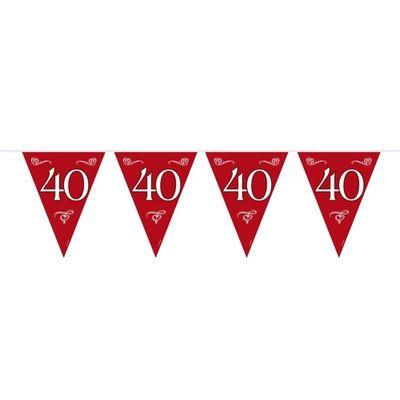Vlaggenlijn 40 Jubileum Robijn/stk