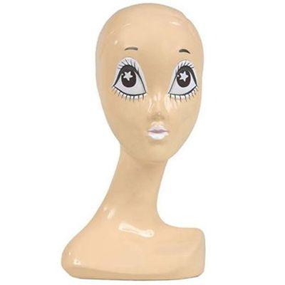 Pruikenkop met witte ogen