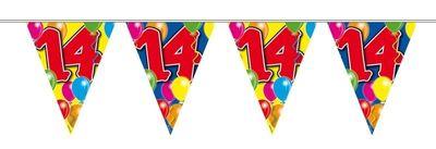 Vlaggenlijn balloons 14 jaar 10M