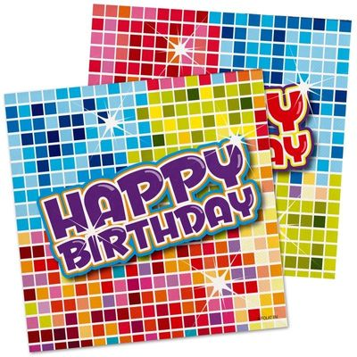 Foto van Servet Birthday Blocks 25x25cm /16