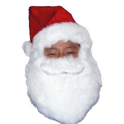 Kerstmuts met baard pluche