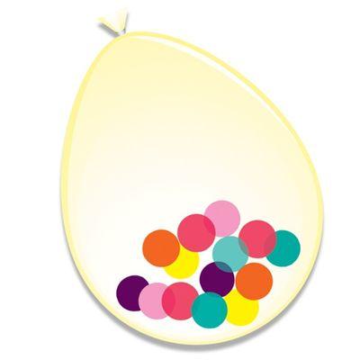 Ballonnen Assorti Confetti 6st 30cm
