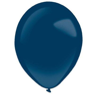 Foto van Ballonnen navy blue metallic (35cm) 50st