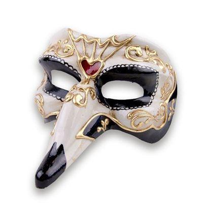 Foto van Venetiaans masker lange neus - luxe