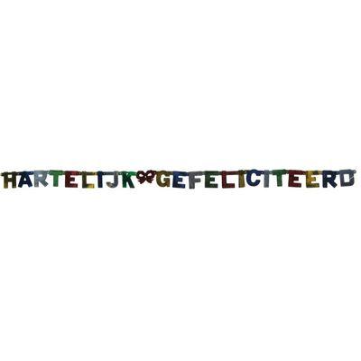 Letterslinger Staniol Hartelijk gefeliciteerd