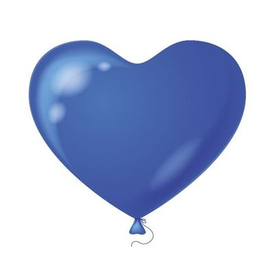 Foto van Hart Ballon donkerblauw (100st)