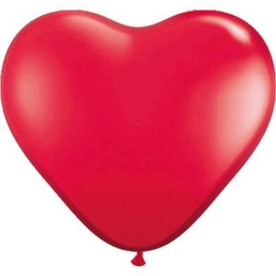 Foto van Hart ballon rood (30cm) 8st