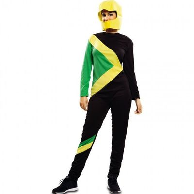 Foto van Jamaicaanse bobsleeër kostuum