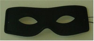 Oogmasker zorro zwart
