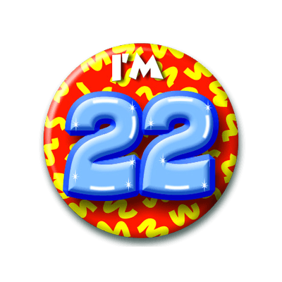 Button 22 jaar