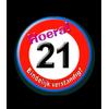 Afbeelding van Button Verkeersbord 21 Jaar
