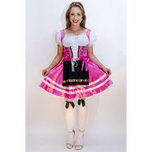 Tiroler jurkje Helena roze