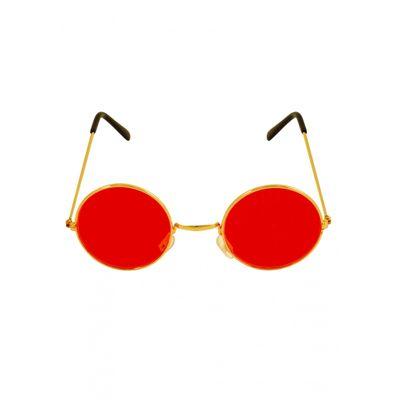 Foto van Hippie bril rood
