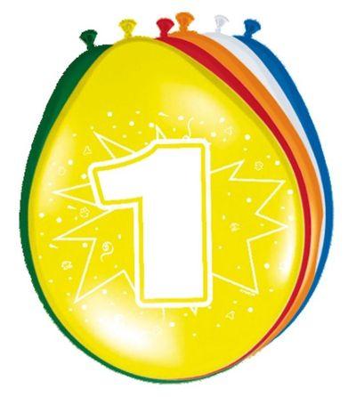 Ballonnen 1 jaar (30cm) 8st
