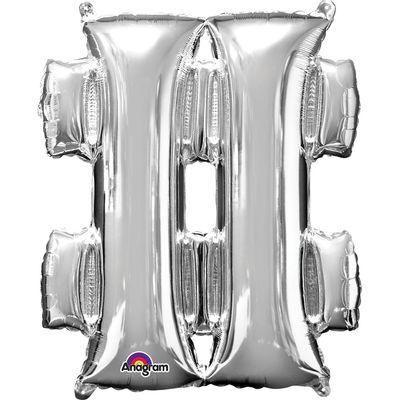 Foto van Folieballon hashtag # zilver