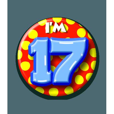 Foto van Button 17 jaar