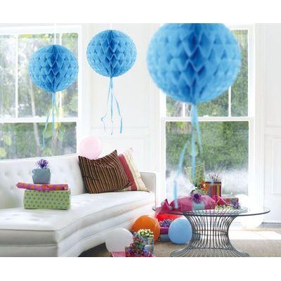 Foto van Honeycomb bal Baby Blauw 30cm
