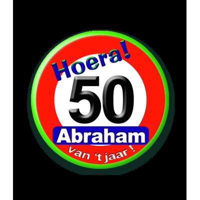Foto van Button Verkeersbord Abraham 50 Jaar