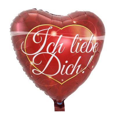 Foto van Folieballon Rood Hart 'Ich Liebe Dich'