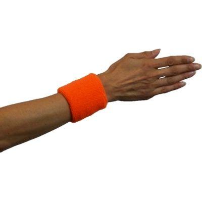 Foto van Zweet polsbandjes neon oranje