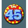 Afbeelding van Button 45 jaar