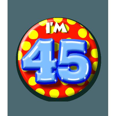 Foto van Button 45 jaar