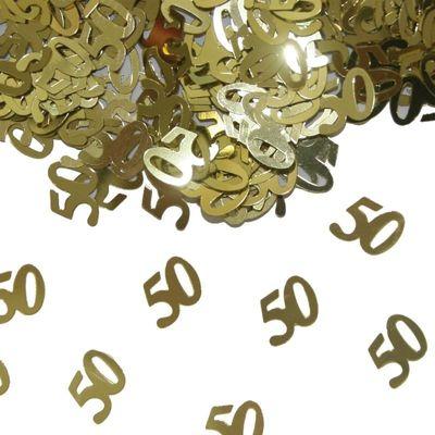 Tafel Confetti 50 jaar goud
