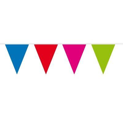 Foto van Vlaggenlijn assorti kleuren 10m/stk