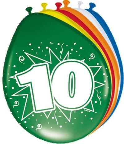 Ballonnen 10 jaar (30cm) 8st