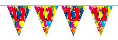 Vlaggenlijn balloons 11 jaar 10M