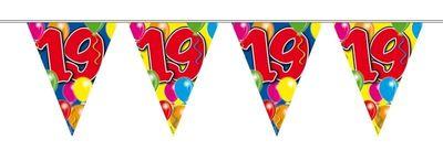 Vlaggenlijn balloons 19 jaar 10M