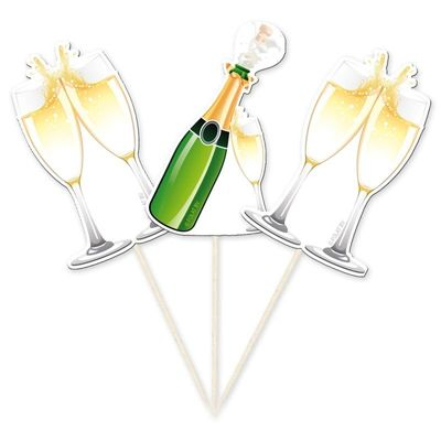 Foto van Prikkers Champagneflessen /10 stk