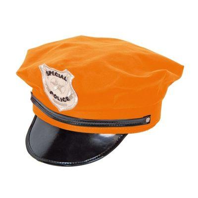 Foto van Politie Pet Neon Orange/ stk