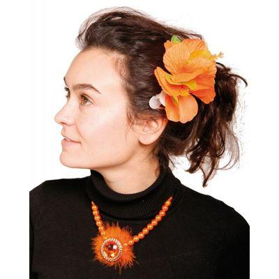 Foto van Hawai Haarclip Bloemen Oranje/6stk