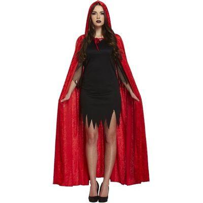 Rode fluwelen cape