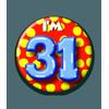 Afbeelding van Button 31 jaar