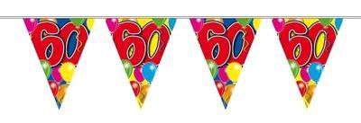 Vlaggenlijn balloons 60 jaar 10M